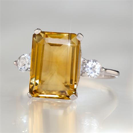 Gemstone Decadence Citrine Ring