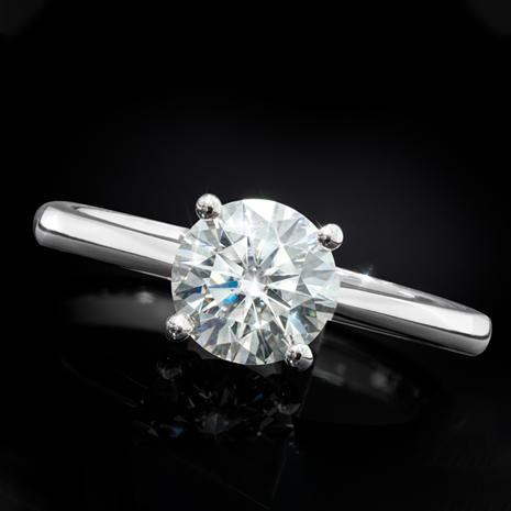 Moissanite Solitaire Ring (1 carat)