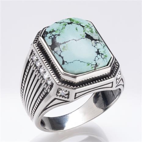 Men's Pure Turquoise Ring