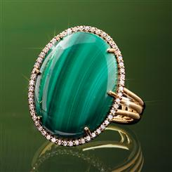 Malachite Portrait Ring