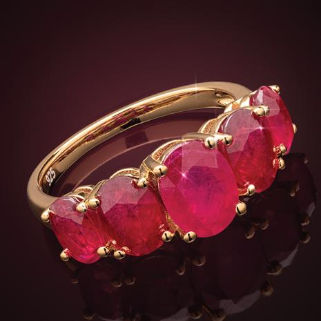 Ruby Quintet Ring (5 1/2 ctw)