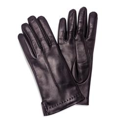 Ladies Italian Leather Gloves (Black)