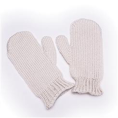 Genuine Irish Wool Mittens (Cream)