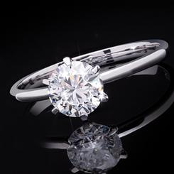 14K White Gold Solitaire Lab-Created Diamond Ring (1 carat)
