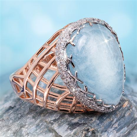 Mermaid's Dream Aquamarine Ring