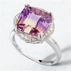 14K White Gold Ametrine  Ring (6.33 ctw)