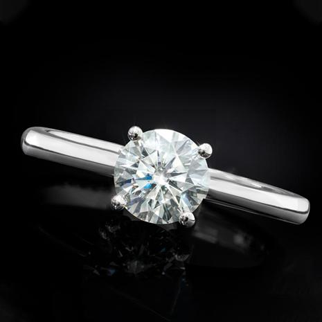 Moissanite Solitaire Ring (1/2 carat)