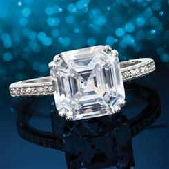 Asscher Cut Ring (3-2/3 ctw)