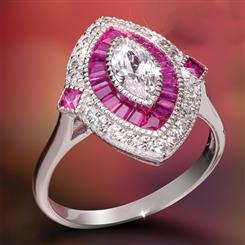 Ruby Red Parisian Ring (2 ctw)