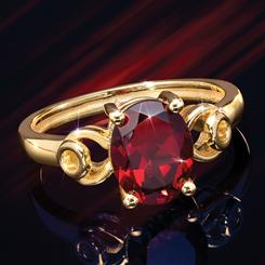 Forbidden Fruit Red Garnet Ring