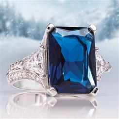 Blue Fire Helenite Ring