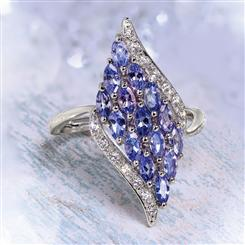 Tanzanite Wave Ring