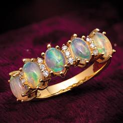 5-Stone Opal Anniversary Ring