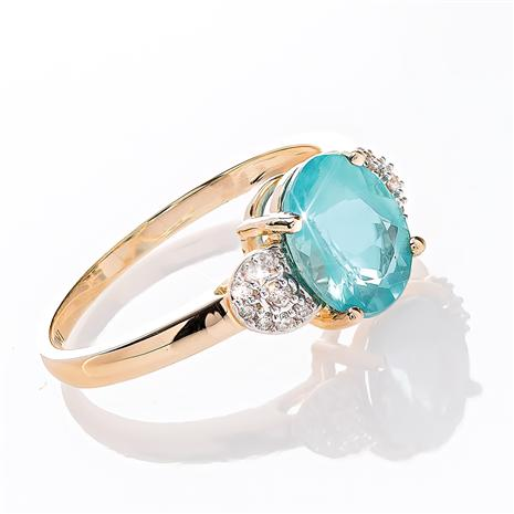 14K Yellow Gold Apatite and Diamond Ring (1.625 ctw)