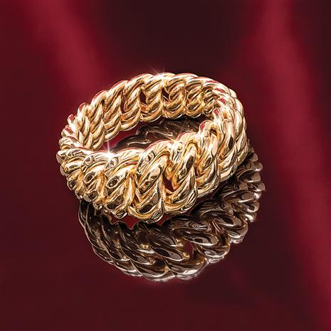 14K Italian Gold Rope Ring