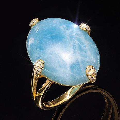 Aquamarine Legendary Love Ring