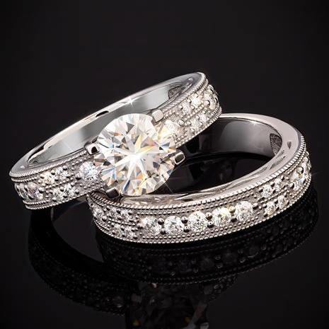 Dearly Beloved Moissanite Rings (2 1/2 ctw)