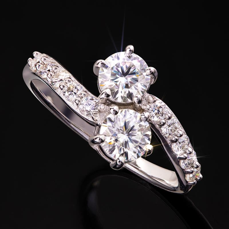 Moissanite Forever Ring