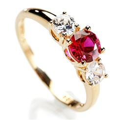 Scienza® Ruby Rosaré Ring