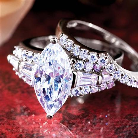 Diamondaura Matrimony Marquise Rings