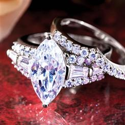 Diamond<em>Aura</em>&reg; Matrimony Marquise Rings
