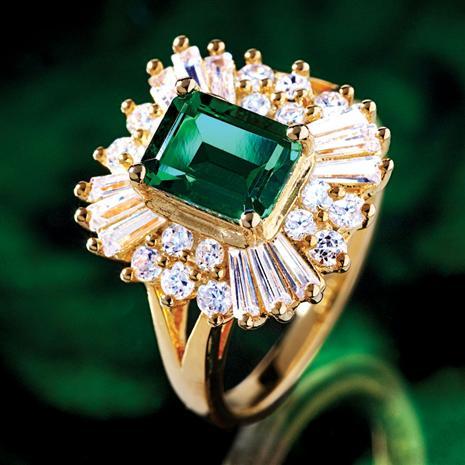 Scienza Ventura Lab-Created Emerald & Diamondaura Ring