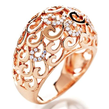 Diamondaura® Seafarer Scroll Ring