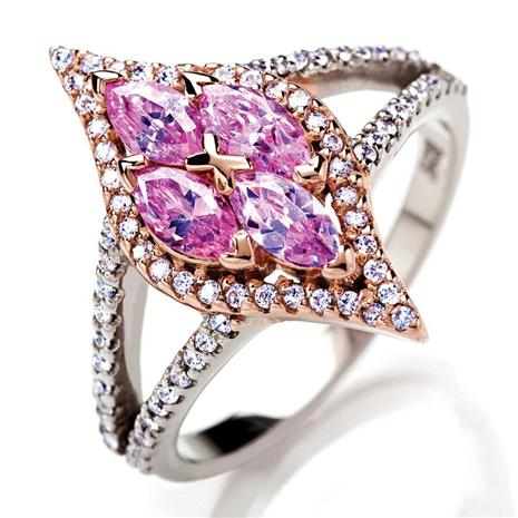 Marquise Pink DiamondAura Ring