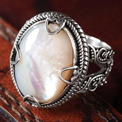 Pura Mother Of Pearl Ring Stauer Online Discount