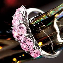 Palos Pink DiamondAura® Sterling Silver-finished Ring