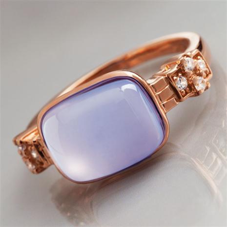 Duchess Violet Chalcedony Ring Stauer Online Discount