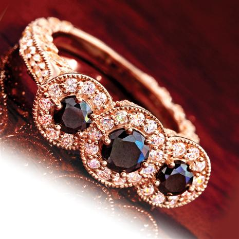 House Of Bruges Rosella Black Diamond Ring Stauer Online Discount