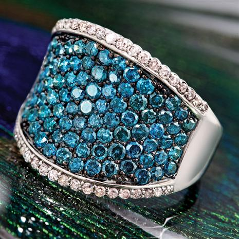 Glacier Blue Diamond Ring Stauer Online Discount