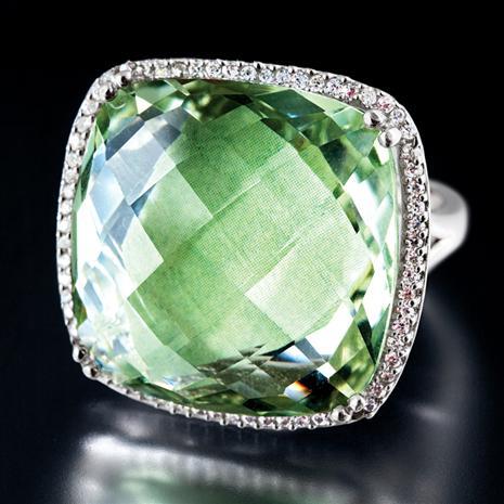 Aurora Green Amethyst Ring Stauer Online Discount