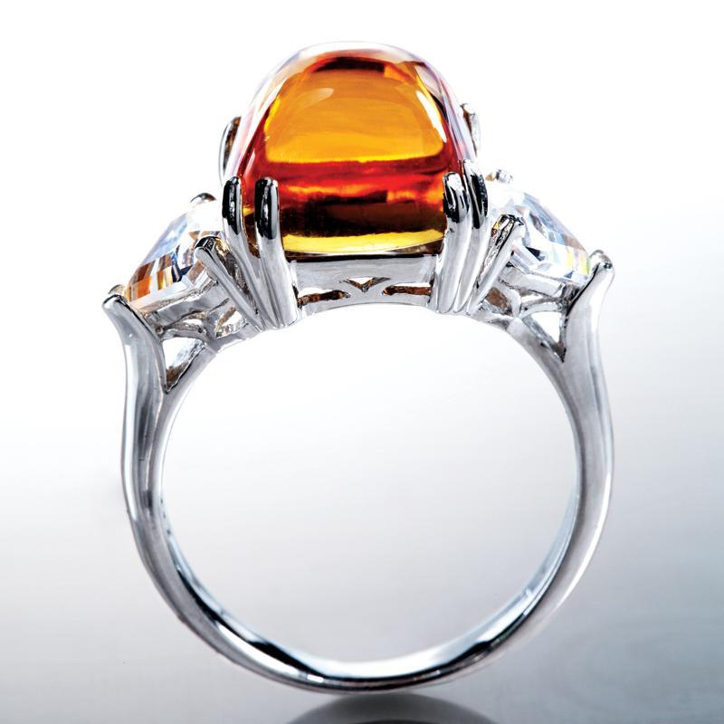 honey citrine ring w6015 stauer
