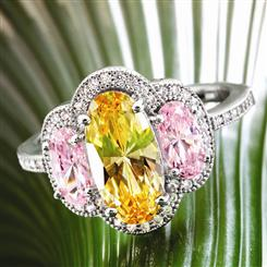Canary & Pink Ring
