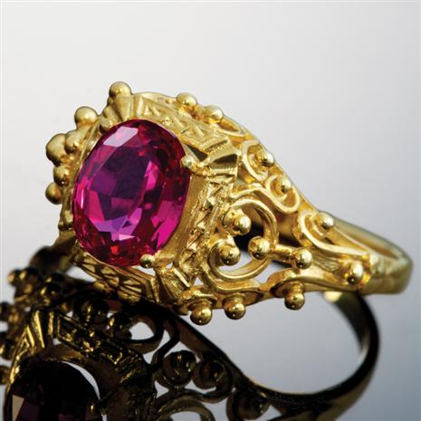 Scienza Lab-Created Ruby Romantique Ring, Elegant Womens Rings by Stauer
