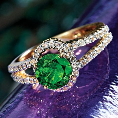Polina Chrome Diopside Ring Stauer Online Discount