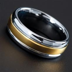 Mens Circuit Tungsten Ring