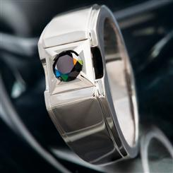 Mens Black Diamond Paladin Ring