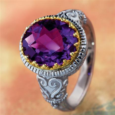 Camelot Amethyst Ring, Elegant Womens Rings by Stauer