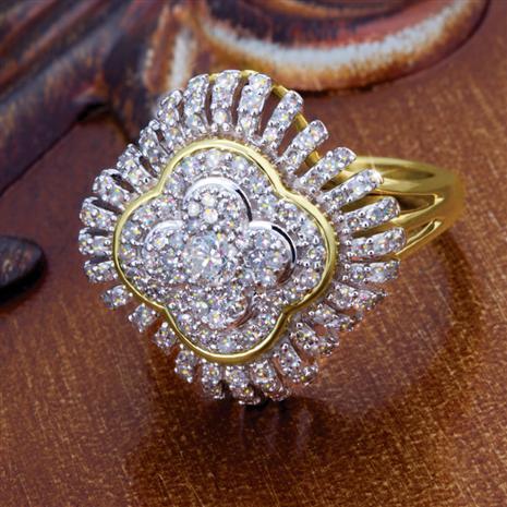 14K Gold Candela Diamond Ring