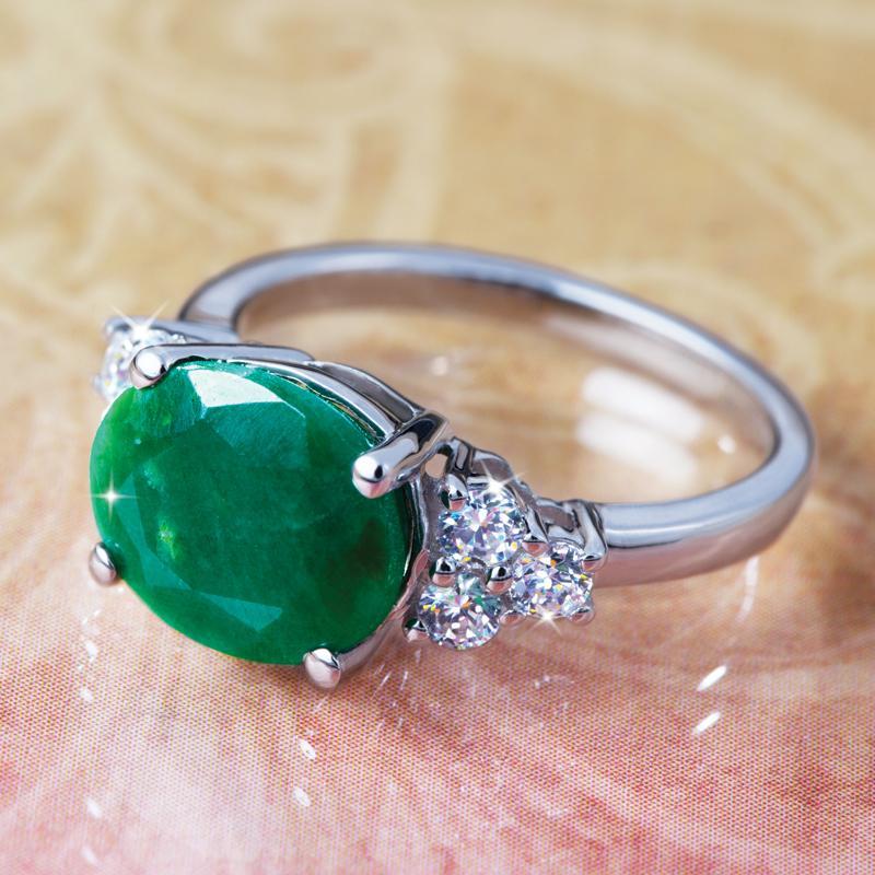 isle emerald ring w6159 stauer