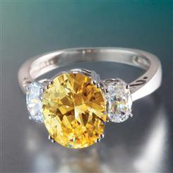 Canary DiamondAura® Ring