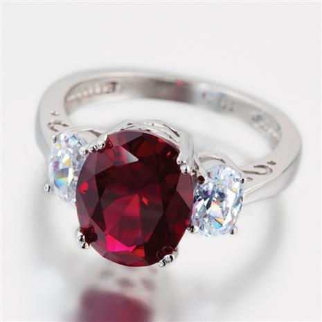 Scienza® Ruby & Diamondaura® Oval Ring