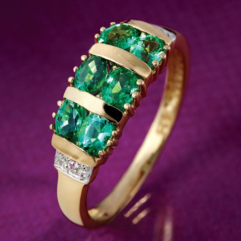 pride of zambia emerald ring w6223 stauer