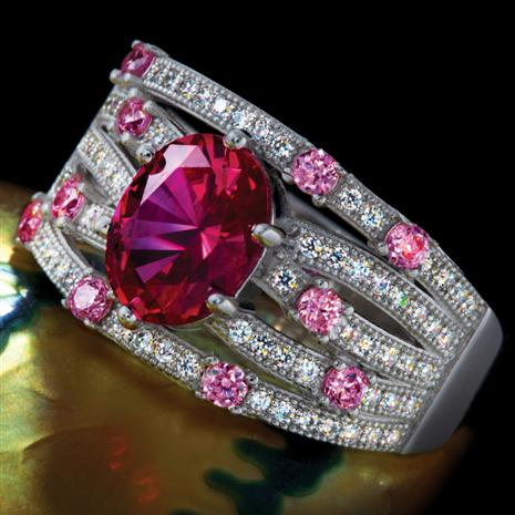 VIVIAN LAB-CREATED RUBY RING