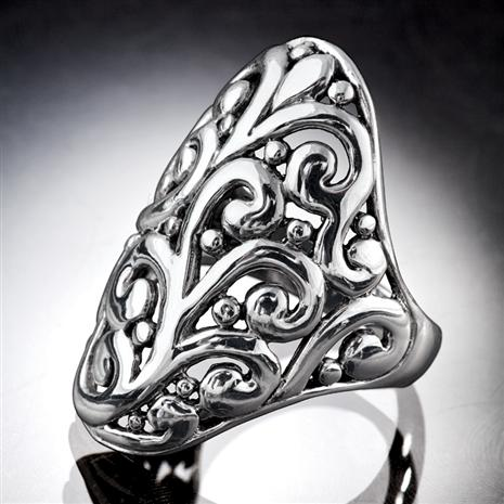 Balinese Scroll Ring Stauer Online Discount
