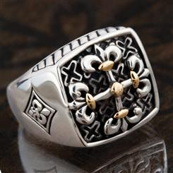 Sterling Silver Clovis Mens Ring