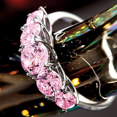 Palos Pink  Diamondaura Platinum-finished Ring